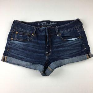 American Eagle Denim Shortie Shorts
